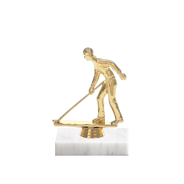 "5"" Shuffleboard Figure on Marble Base Trophy"