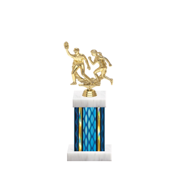 "11"" Softball Trophy with Softball Figurine, 4"" colored column and marble base."