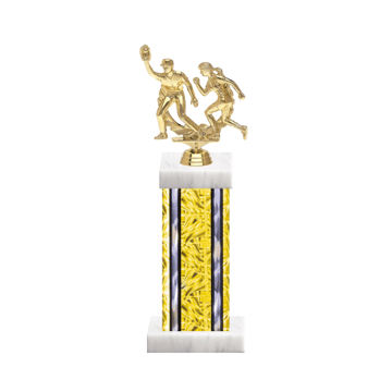 "13"" Softball Trophy with Softball Figurine, 6"" colored column and marble base."