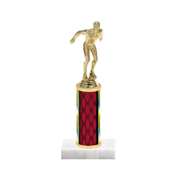 "9"" Swimming Trophy with Swimming Figurine, 4"" colored column and marble base."