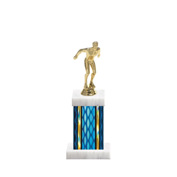 "11"" Swimming Trophy with Swimming Figurine, 4"" colored column and marble base."