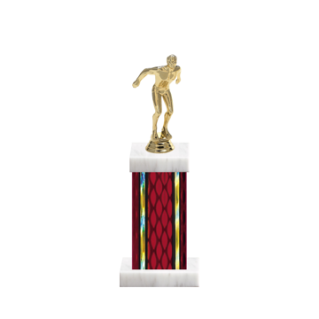 "12"" Swimming Trophy with Swimming Figurine, 5"" colored column and marble base."