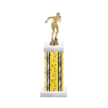 "13"" Swimming Trophy with Swimming Figurine, 6"" colored column and marble base."