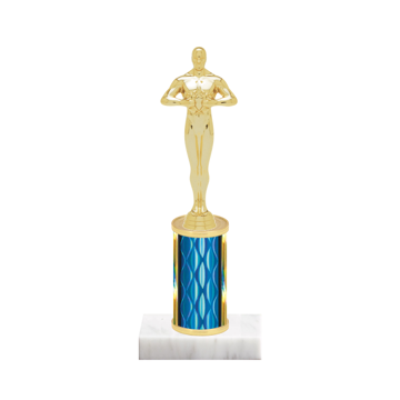 "8"" Victory Trophy with Victory Figurine, 3"" colored column and marble base."