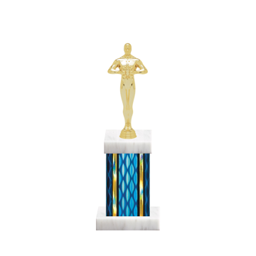 "11"" Victory Trophy with Victory Figurine, 4"" colored column and marble base."