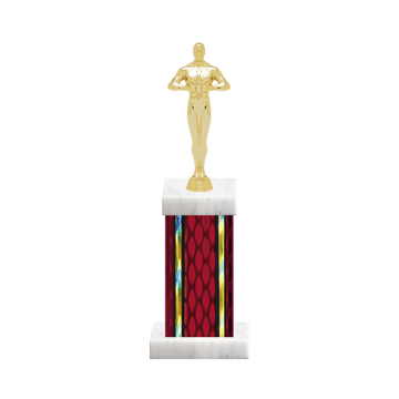 "12"" Victory Trophy with Victory Figurine, 5"" colored column and marble base."