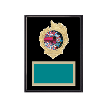 "6"" x 8"" Majorette Plaque with gold background, colored engraving plate, gold flame medallion holder and Majorette insert."