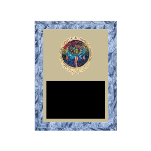 """6"""" x 8"""" Majorette Plaque with gold background plate, colored engraving plate, gold wreath medallion and Majorette insert."""