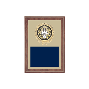"5"" x 7"" Victory Plaque with gold background plate, colored engraving plate, gold wreath medallion and Victory insert."