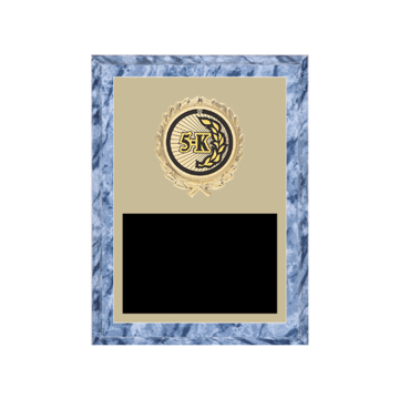 "6"" x 8"" Cross Country Plaque with gold background plate, colored engraving plate, gold wreath medallion and Cross Country insert."