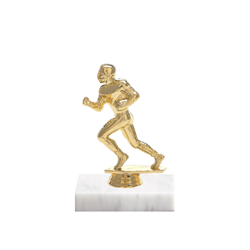 "5"" Football Figure on Marble Base Trophy"