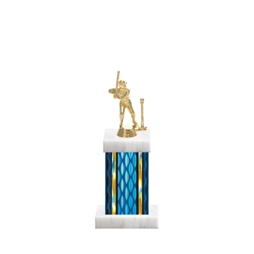 """11"""" T-Ball Trophy with T-Ball Figurine, 4"""" colored column and marble base."""