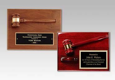 Picture for category Gavel Plaques Engraved