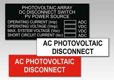 Picture for category Photovoltaic Solar PV Warning Labels