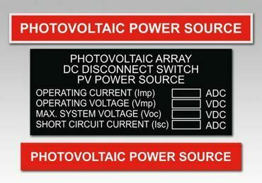Picture for category Power Source Solar PV Warning Labels
