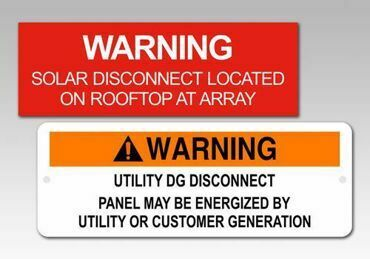 Picture for category Warning Solar PV Labels