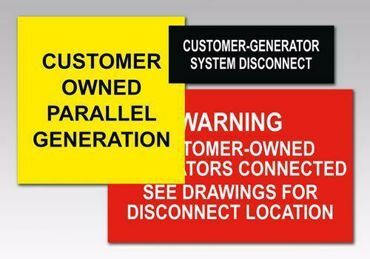 Picture for category Customer Owned Solar PV Warning Labels