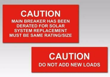 Picture for category Caution Solar PV Warning Labels