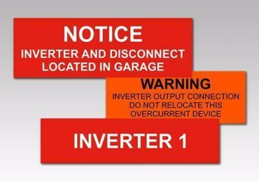 Picture for category Inverter Solar PV Warning Labels