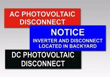 Picture for category Disconnect Solar PV Warning Labels