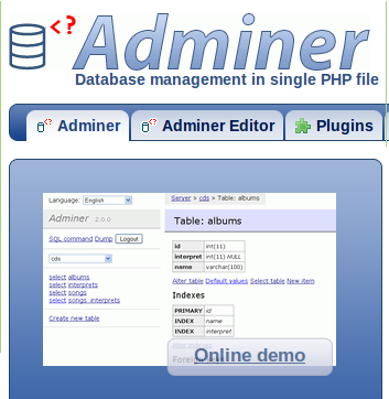 Adminer - A Full-Featured Database Management Tool