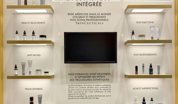 Adhesif lettrages boutique dermacenter skinceuticals paris 75003 2019