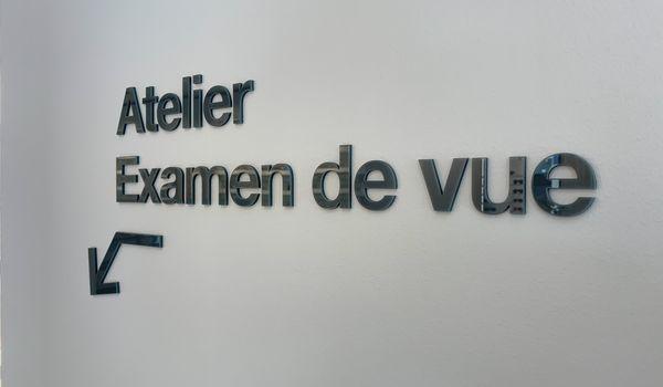 Lettres 3d relief pmma signaletique commerce creteil
