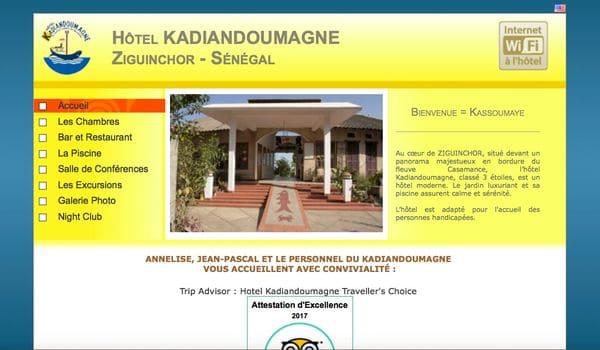 Site web hotel kadiandoumagne com r