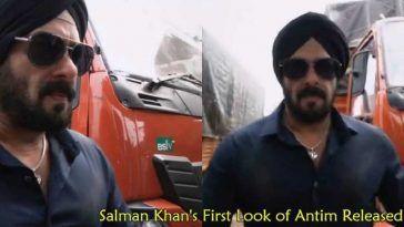 Salman Khan's First Look of Antim Released