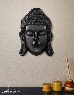 Blessing Lord Buddha - Ebony Black Marble Look