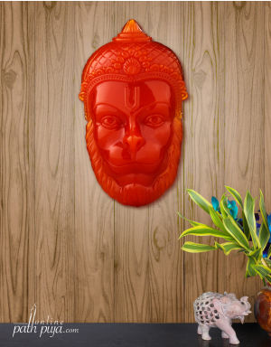 Blessing Lord Hanuman - Semi-Transparent Glossy Orange (Sinduri) Color