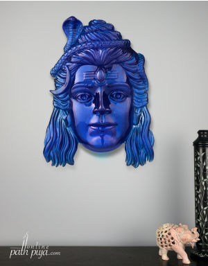 Blessing Lord Shiva Jatadhari - Semi-Transparent in Neelkanth Blue Color