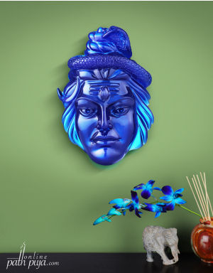 Blessing Lord Shiva - Semi-Transparent in Neelkanth Colour