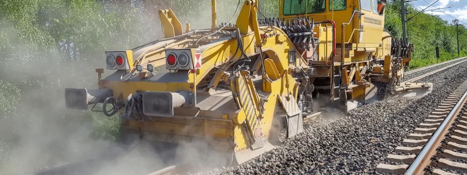 Railroad equipment in use