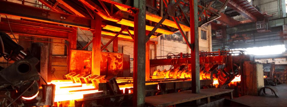 Steel mill interior