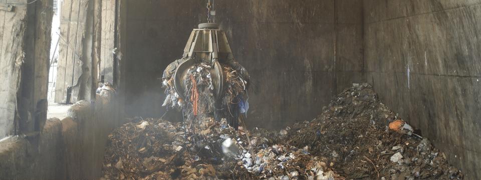Waste disposal facility interior