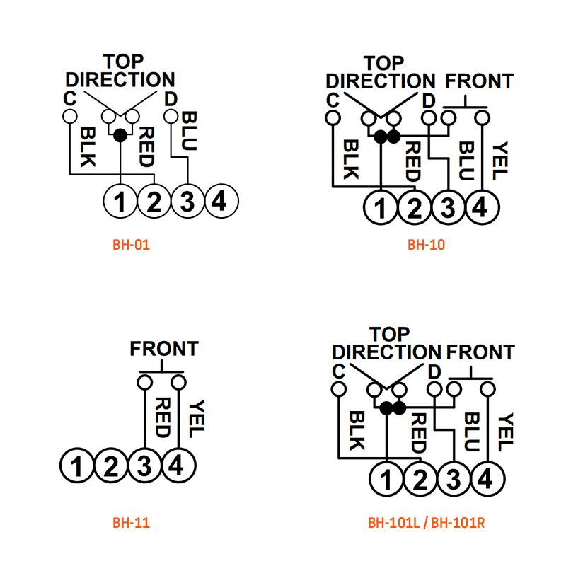 BH-01, BH-10, BH-11 & BH-101L / BH-101R wiring
