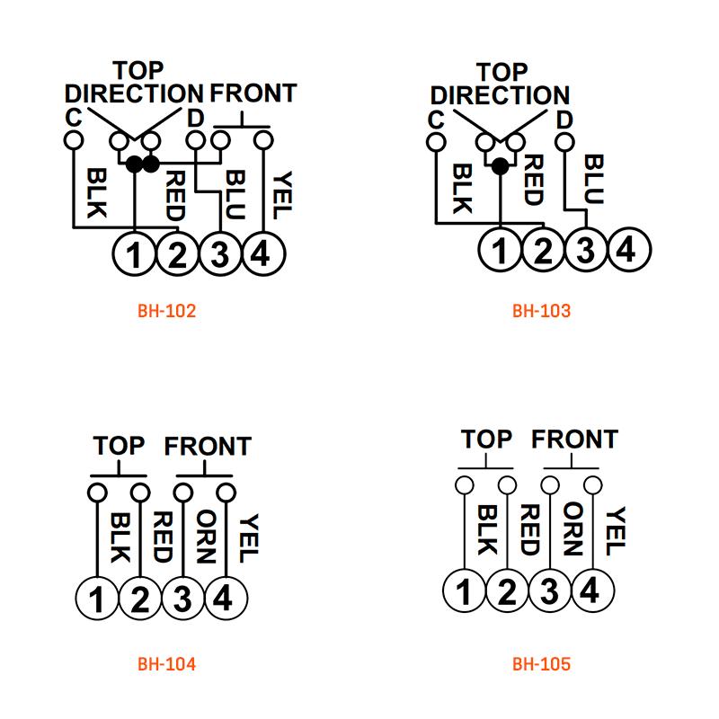 BH-102, BH-103, BH-104, & BH-105 wiring