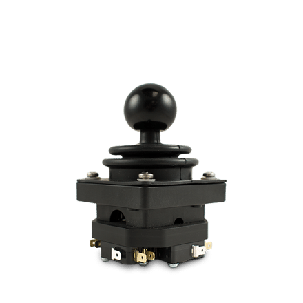 Dual axis CS3 B/B with panel mounting body and round ball handle