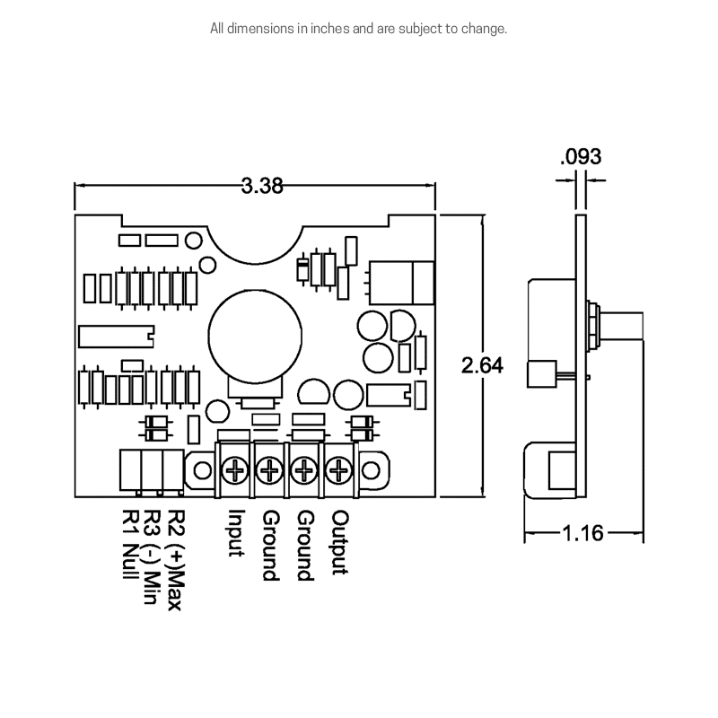 Dimensions and wiring details