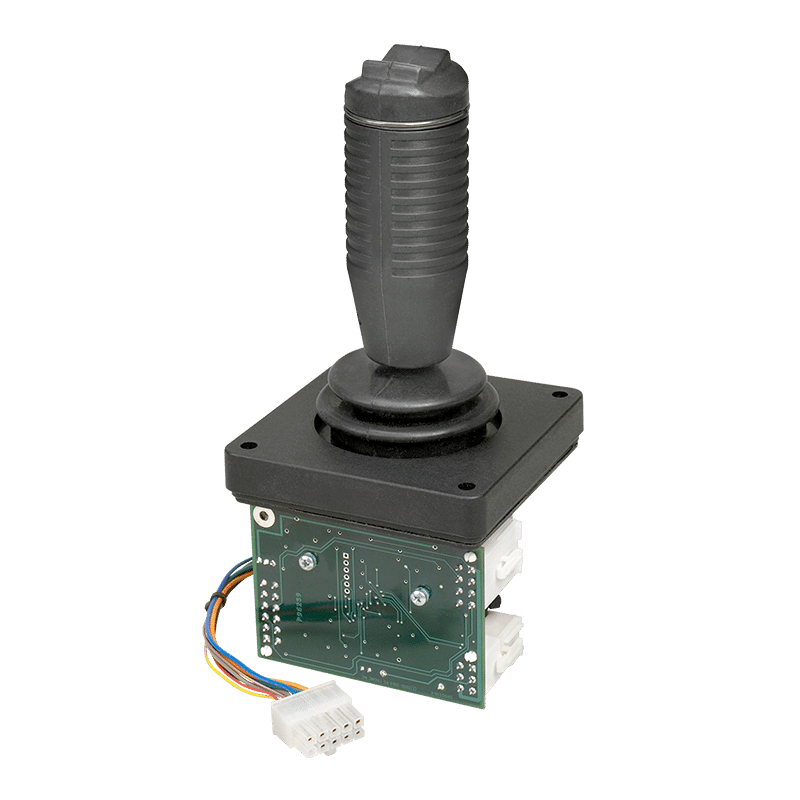 ESS408 CAN interface board shown on CS3 joystick with RHS handle