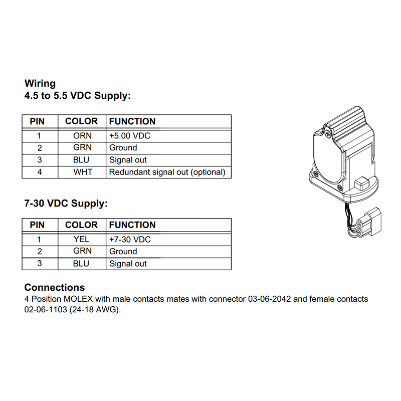 Wiring & connection details