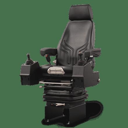 HFC-100 operator chair system with vinyl seat cushions, seat belt &  XL-VNSO joysticks