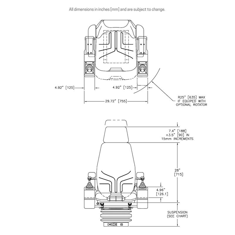 HFC-100 dimensions