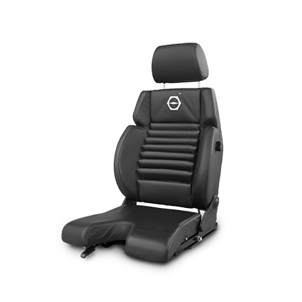 Koenig seat with leather upholstery and u-cut cushion