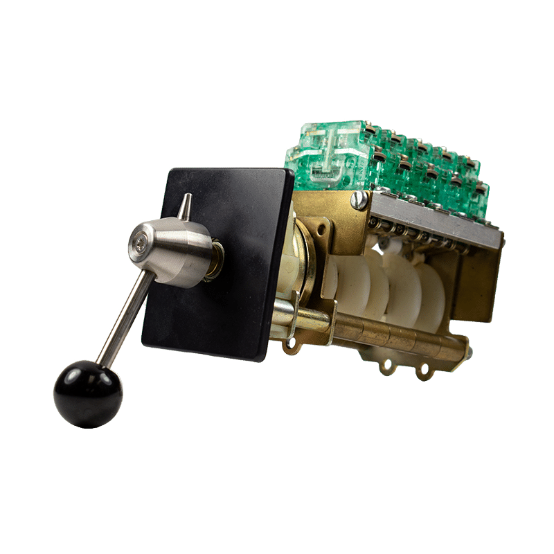 NSO-1 rotary switch with ball handle and DC contacts