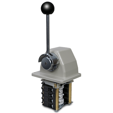 NS2-KB single axis controller with round ball handle