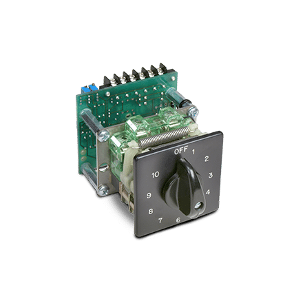 NSO-0 rotary switch with potentiometer board and tear drop handle