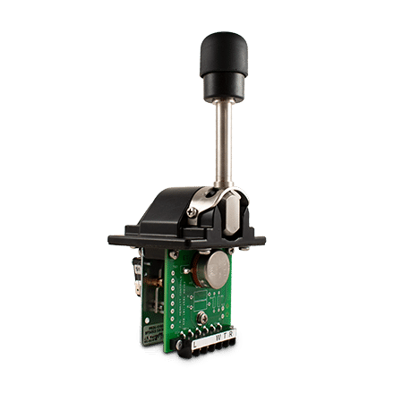 PRO-5 with mechanical interlock handle. Shown with 4-wire potentiometer and microswitches.