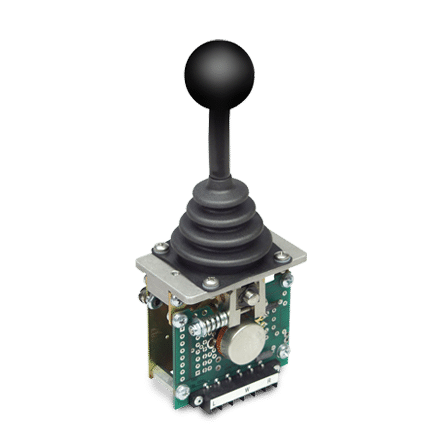 PRO-6 with round ball handle and 3-wire potentiometer output.